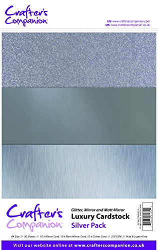 Crafter's Companion - Luxuriöser Fotokarton, Silberfarben Silber-glitzer-papier-karton