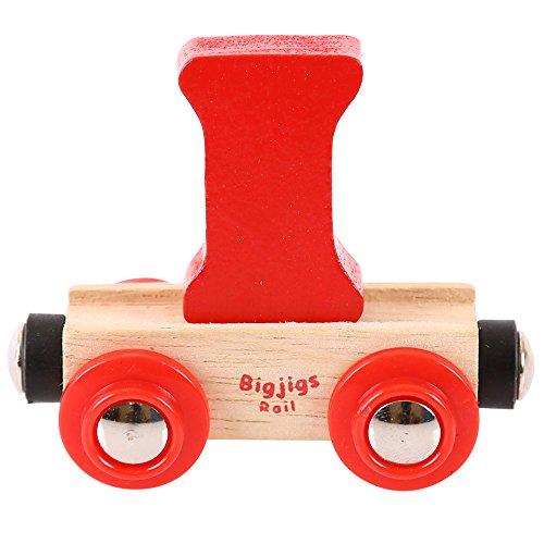 Bigjigs Rail Rail Buchstabenzug I (Rot) -