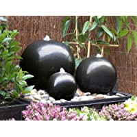 Fontana in ceramica a tripla sfera con LED