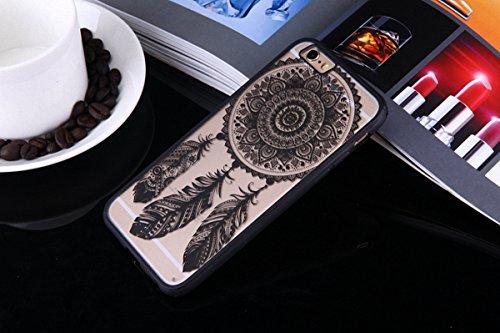 König-Shop Henna Cover Handy Hülle Case Schutzhülle Bumper Tasche Indische Sonne Mandala, Für Handy:Apple iPhone 6 / 6s Plus (5.5 Zoll), Motiv auswählen:Mandala Kreis Traumfänger / Dreamcatcher
