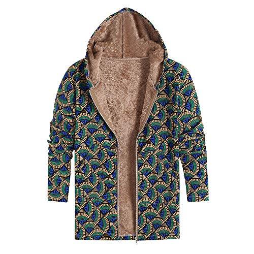 TWBB Winter Hoodie Mantel,Wintermantel Blumen Drucken Mäntel mit Kapuze Winterjacke Jacke Outwear Parka Jacke StrickjackeOutwear
