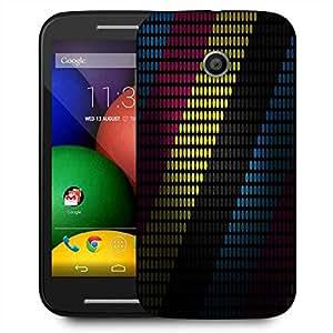 Snoogg Multicolor Strips Designer Protective Phone Back Case Cover For Motorola E2 / MOTO E22