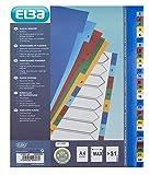 Elba 100204822 Divisori in Polipropilene Numerici 1-31 Formato Interno 23X29,7 cm, Tacche Colorate