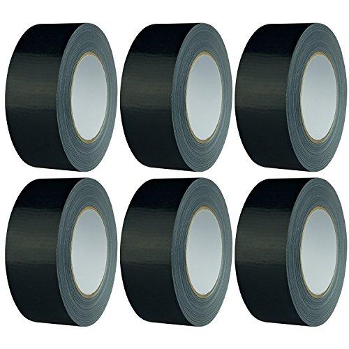 SECOTEC Gewebeband schwarz; 48 mm x 50 m; Panzertape extra stark; Inhalt: 6 Rollen