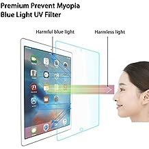 """Protector de pantalla hecho de vidrio para prevenir la miopía SHINYMOD para iPad Pro 12.9 pulgadas, filtro UV de luz azul 2.5D con tecnología japonesa, lámina templada premium 2,5D y dureza 9H para Apple iPad Pro 12,9"""", protege tus ojos"""