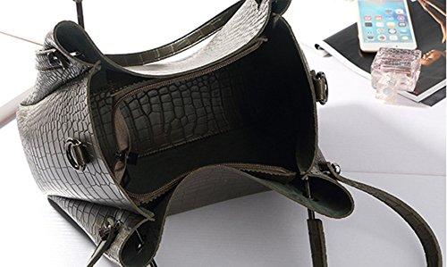 Keshi Pu Niedlich Damen Handtaschen, Hobo-Bags, Schultertaschen, Beutel, Beuteltaschen, Trend-Bags, Velours, Veloursleder, Wildleder, Tasche Deep Grau