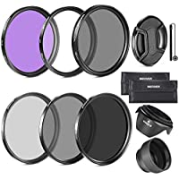 Neewer 52MM Filtro Accesorio Kit para Nikon D7100 D7000 D5200 D5100 D5000 D3300 D3200 D3100 D3000 D90 D80 DSLR cámaras-Incluye: 52MM Filtro Kit (UV, CPL, FLD) y Más