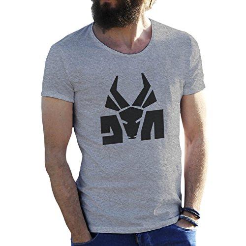 Die Antwoord Top Rap Star Ninja Yolandi Logo Gris Camiseta para Hombre 3X Large