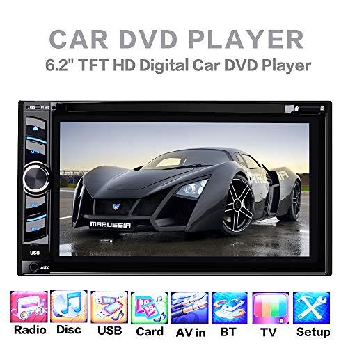 Doppelter Lärm-Auto-Spieler, Universalität 6,2 Zoll HD Touch Screen DVD/CD/Fernsehauto Mp5-Spieler Bluetooth freihändiges Parken Prioritätsradio-EQ-Effekte
