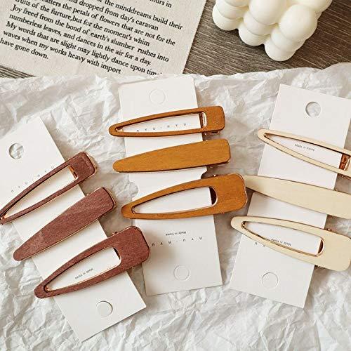 Beaut 9 stücke Haarschmuck 1 Stück Koreanische Hohl Geometrische Tropfen Wasser Haarspangen Vintage Handgefertigten Holz Haarnadeln Haarspangen