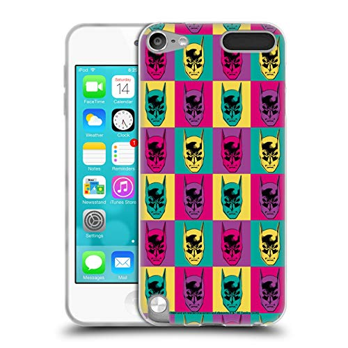 Head Case Designs Offizielle Batman DC Comics Pop Art Kopf Mode Vintage Soft Gel Huelle kompatibel mit Apple iPod Touch 5G 5th Gen