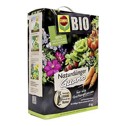 COMPO BIO Naturdünger mit Guano für alle Gartenpflanzen, 6 kg