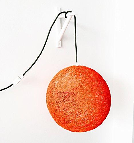 Lámpara de pared esfera decorativa de hilo de algodón, artesanal, hecha a mano 40 cms.