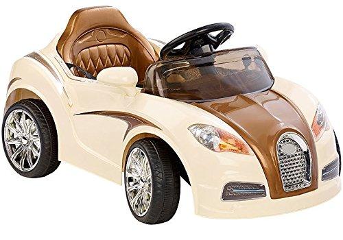 Elektro Kinderauto Elektrisch Ride On Kinderfahrzeug Elektroauto Fernbedienung - Bugati - Creme Farben