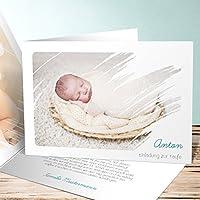 Einladungskarten Taufe Basteln, Freude 100 Karten, Horizontale Klappkarte  148x105 Inkl. Weiße Umschläge,