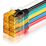 SEBSON Cable de Red Cat 6 Ethernet, Gigabit LAN Patch Cable, 1000Mbit/s, U-UTP, Conector RJ45 para Router, Módem, TV - 10 Colores, 1.5m