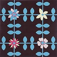 Around The Wall DALROS010R Rosemary-Lastra di terra in plastica, in PVC, colore: marrone/rosso/rosa, 30,5 x 30,5 x 0,15 cm, 1 m², 11 pezzi