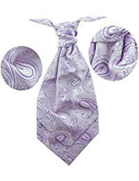 New Sendmart Men's pre-tied ruche cravat -Paisley and Jacquard