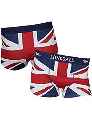 Lonsdale - Tisbury, color rojo,blanco,azul, talla XL