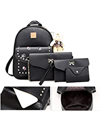 TYPIFY® Combo Of 4 Pcs Set Casual Stylish Waterproof Mini Trending Backpack College Office Travel Bag For Student...