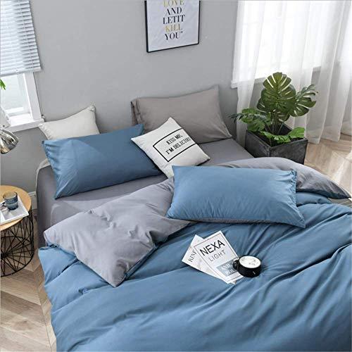 SHJIA Einfarbig Bettbezug-Set Königin König größe Bettwäsche Set Seidige Weiche Bettdecke Abdeckung