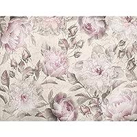 Tapete Vlies Fototapete für Wohnzimmer abstraktes Muster Blumen zarte Rosen