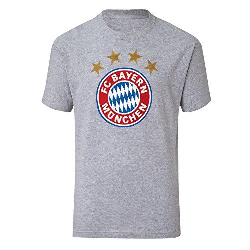 FC Bayern de Múnich–Camiseta Logo Gris Jaspeado Talla S de 3x l FC Bayern Múnich, Small