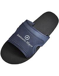 SODIAL(R) zapatillas libre de polvo para Hombre Planta Negro antideslizante Suela antiestatica EEUU 8.5