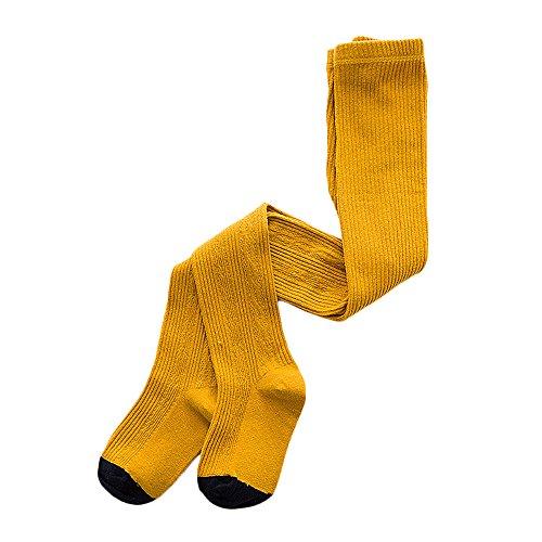 VANKER Baby Kinder Mädchen niedlich Warm, elastisch Strumpfhose Strümpfe Strumpfhosen Größe L gelb - Kind Strumpfhosen