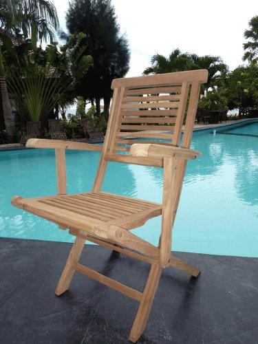fauteuil en teck brut naturel pour le jardin