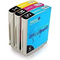 OfficeWorld Compatibile HP 940XL 3 Colori Cartucce D'inchiostro Alta capacità