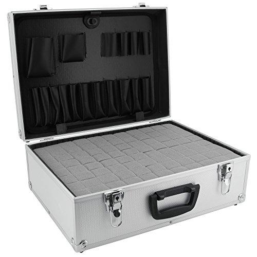 AR Carry Box® Alukoffer Werkzeugkoffer Aluminium Koffer leer (LxBxH) 450x320x175mm Farbe Alu/Silber