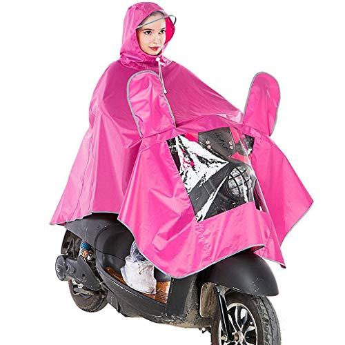 REIT Poncho Erwachsene Multifunktions Regenmantel Fashion Outdoor Wandern Regenbekleidung Motorrad (Color : Pink, Size : One Size)