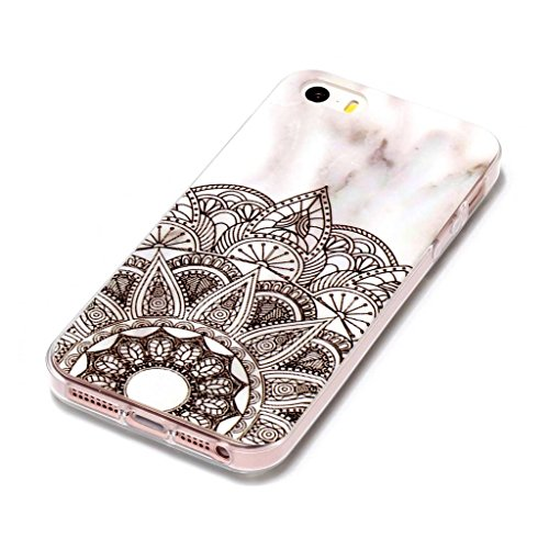 Hülle für Apple iPhone SE 5S / 5 , IJIA Marmor Muster Rosa Weiße Allmähliche Veränderung TPU Weich Silikon Handyhülle Stoßkasten Cover Schutzhülle Handytasche Schale Case Tasche für Apple iPhone SE 5S YH74