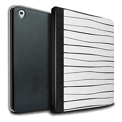 Stuff4® PU-Leder Hülle/Case/Brieftasche für Apple iPad Pro 9.7 Tablet/Schlanke Reben Muster/Skandinavische Mode Kollektion -