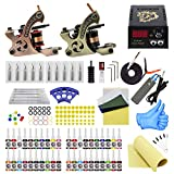 tattoo maschine set komplett profi 2 Tätowiermaschine 2 tattoo netzteil 20 Tätowierungsnadel 40 Tattoo-Tinte EU Plug tattoo kit (TK1000023)