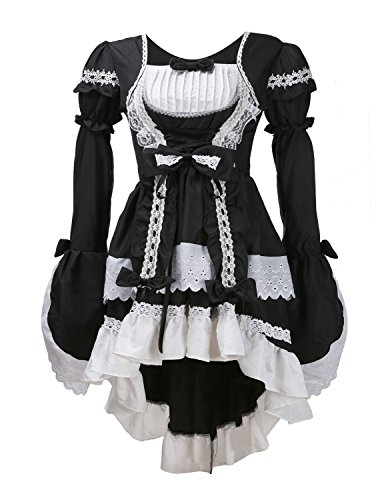 LATH.PIN Damen Cosplay Kostuem Lolita gotische Kleider Abendkleider Partykleid