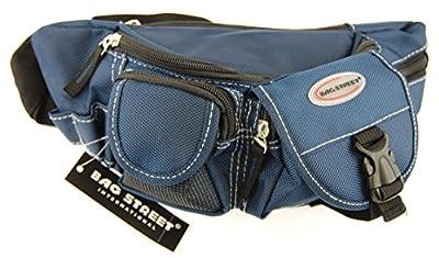 ms1024ac-nb24Sac Banane, Pochette de ceinture, bleu (A 2414), de l'argent, Trousse pour homme, femme nylon Bag Street, sacoche, les loisirs, Cartable