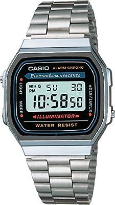 Casio A168W - Reloj Unisex Negro/Plata