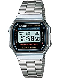 Casio Collection – Reloj Unisex Digital con Correa de Acero Inoxidable – A168WA-1YES