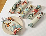 #9: ShalinIndia Floral Patterned Cotton Drink Beverage Cloth Napkins - 10