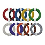 Litzen-Sortiment, 0,14mm², 10x10m Ringe, 10 Farben