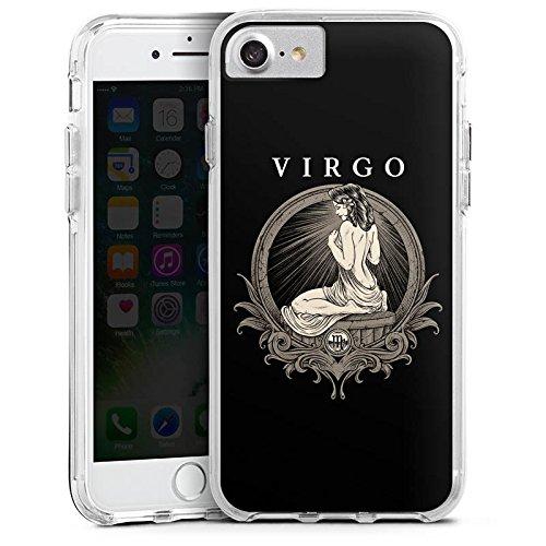 Apple iPhone X Bumper Hülle Bumper Case Glitzer Hülle Jungfrau Sternzeichen Astrologie Bumper Case transparent