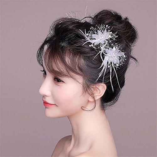 Coreano sposa copricapo testa fiore fermaglio per capelli abito matrimonio  cerimonia abito da sposa accessori per ... 6caad842a43c