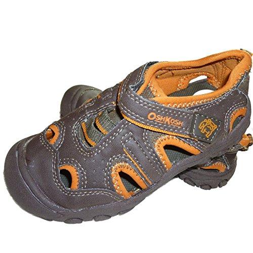 oshkosh-bgosh-kinder-jungen-sandalen-geschlossen-mit-klettverschluss-braun-orange-eu-25