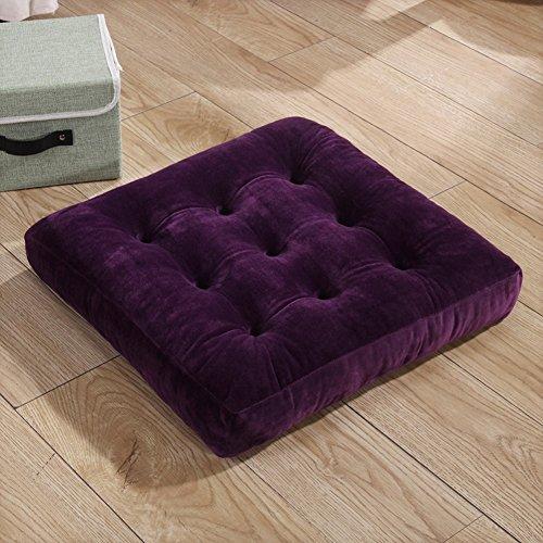 Verdickte student stuhlkissen,Tatami kissen Büro-stuhl-kissen Hoher sitz-lila 45x45cm(18x18inch)