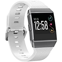 SnowCinda Armband Fur Fitbit Ionic, Verstellbares Ersatzarmband Unisex Silikon Uhrenarmband Fitness Zubehorteil mit Metallschliese Fur Fitbit Ionic Fur Fitbit Ionic