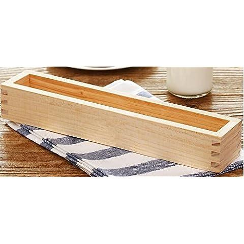 roufu materiale legno/biscotto Mold biscotto Box/Fai da te/Cake Mold/Shaper torta/biscotti/rettangolo/scatola di legno/Stamper