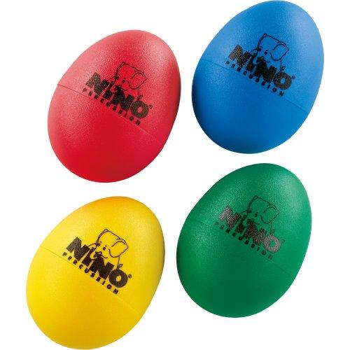 Nino Percussion NINOSET540 Egg Shaker Sortiment vierteilig - musikalische Früherziehung