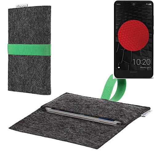 flat.design vegane Handy Hülle Aveiro für Sharp Aquos C10 passgenaue Filz Tasche Case Sleeve Made in Germany